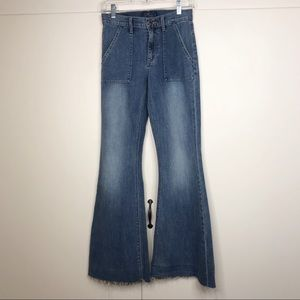 Lucky Brand | the bell flare retro frayed jeans